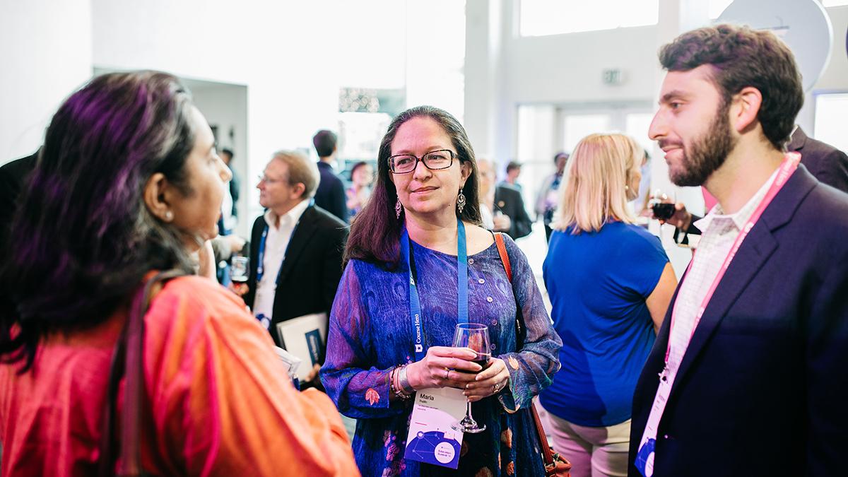 Dr. Maria Trujillo at the Course Hero Education Summit 2018