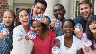college students hit the polls
