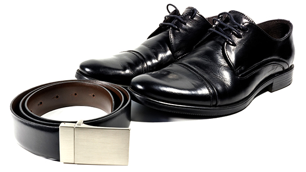shoes and belt for graduation