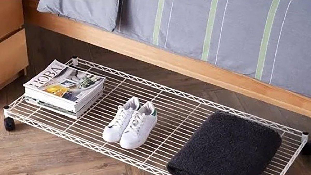 image: DormCo Suprima Rolling Underbed Storage Shelf