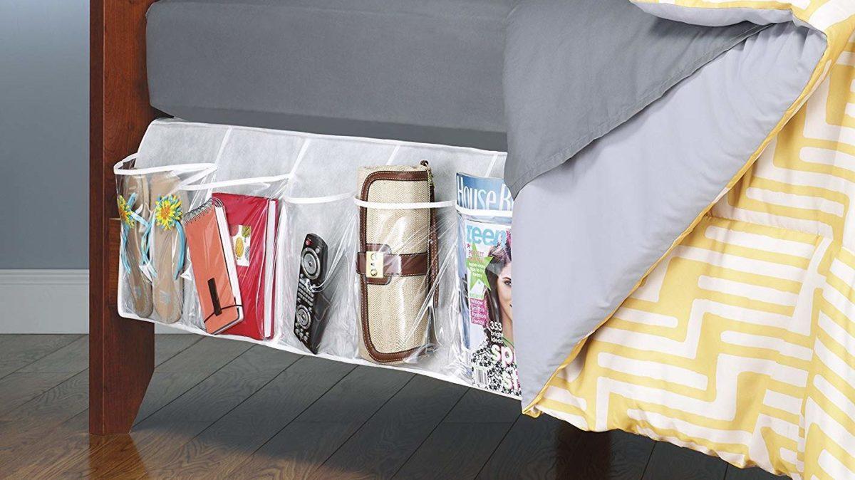Image: Amazon.com Whitmor Bedskirt Storage Organizer