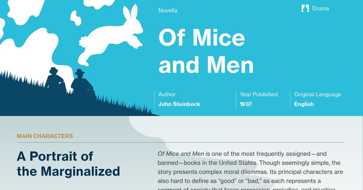 What is Steinbeck's writing style (literary devices, etc.) in Of Mice and Men?