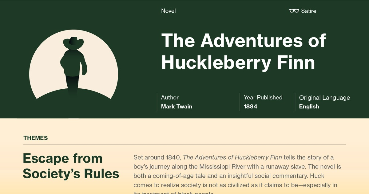 a study on mark twain and the adventures of huckleberry finn Mark twain and the adventures of huckleberry finn controversy mark twain, born samuel langhorne clemens, is a  more about study guide huckleberry finn essay.