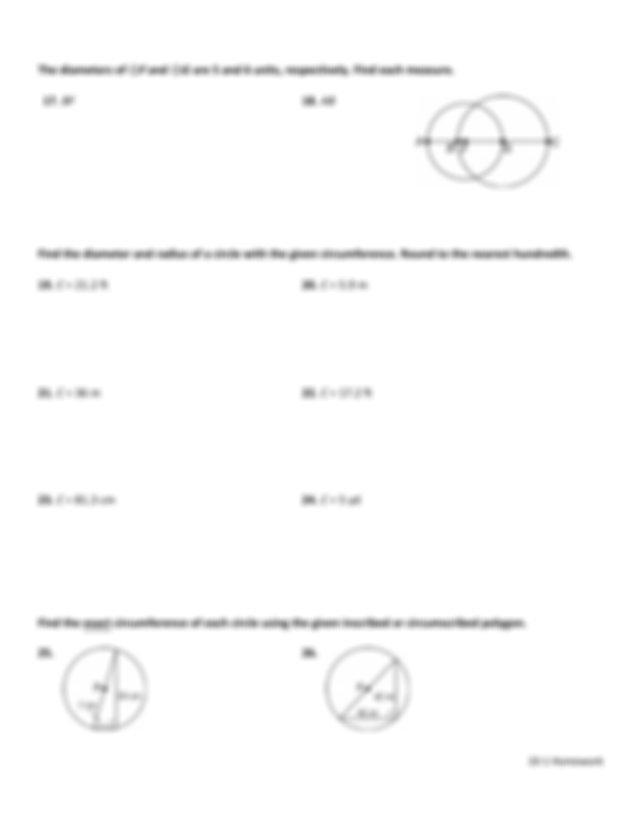 10-1 Homework.pdf - NAME DATE PERIOD 10-1 Circles and ...