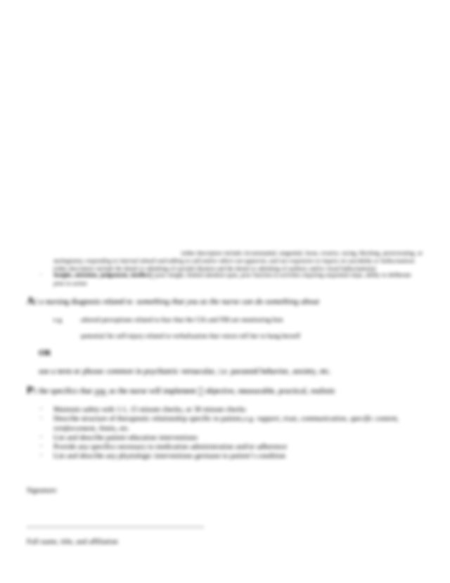 Psychiatric Mental Health Nursing SOAP Note Format.docx ...
