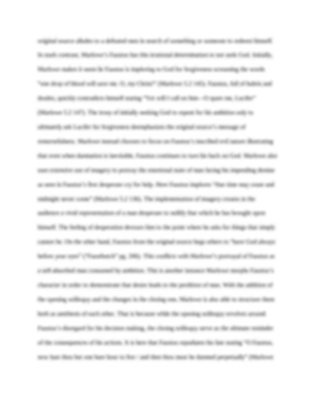 Doctor faustus tragic hero essay