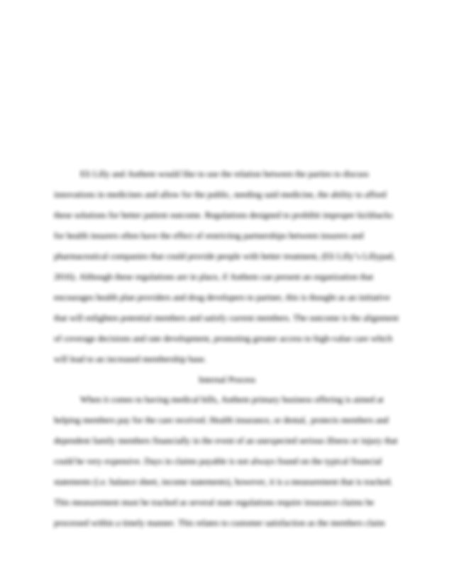 Anthem, Inc ILP1.docx - Individual Learning Project 1 ...
