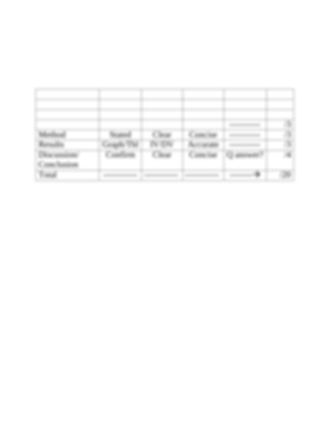 Grading Rubric Lab Report Osmosis Deshelled Eggs.pdf ...