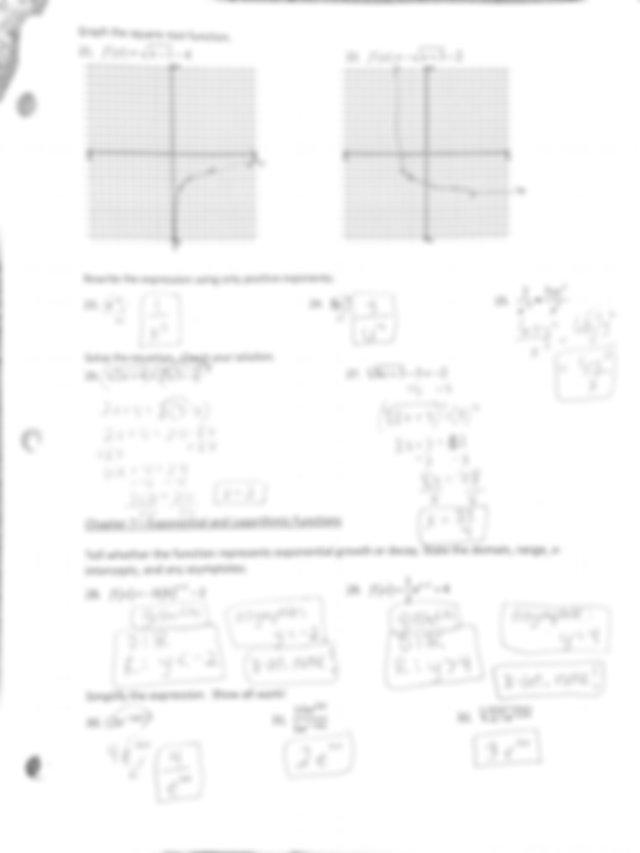 Algebra 2 final exam Review Answer key.pdf   Course Hero