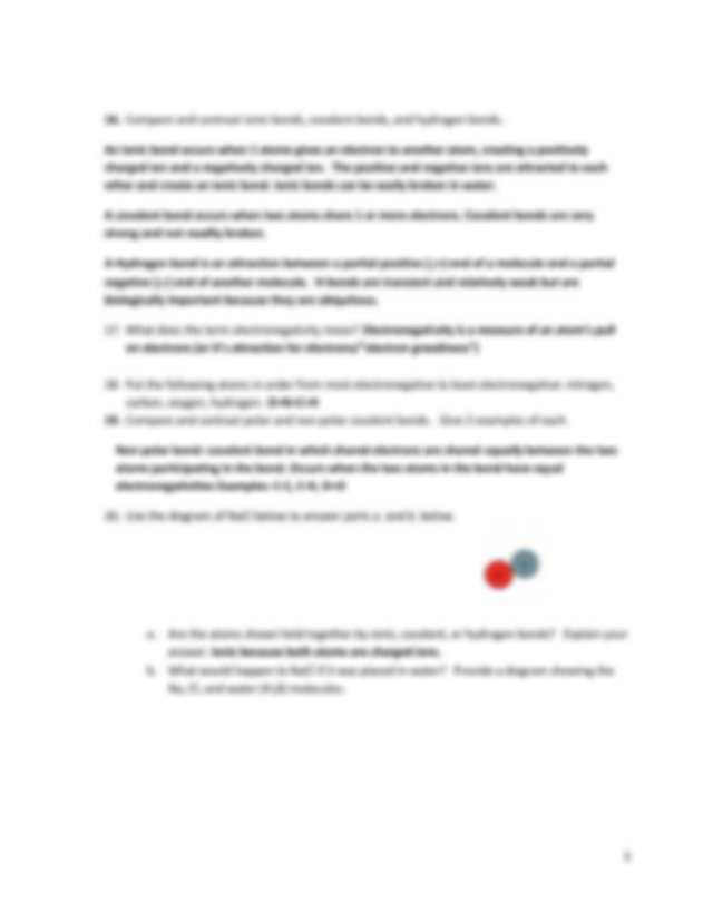Exam 1 Study Questions KEY.pdf   Biology 160 Exam 1 Study ...