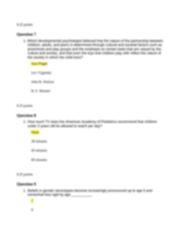 quiz 3 DEP.odt - Question 1 1 What is considered the ...
