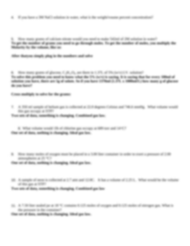Kevin exam 3 review answer key S2012 - Chem 3A Review ...