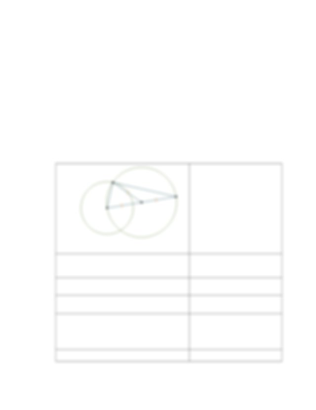 B The Construction Of A Tangent To A Circle given A Point