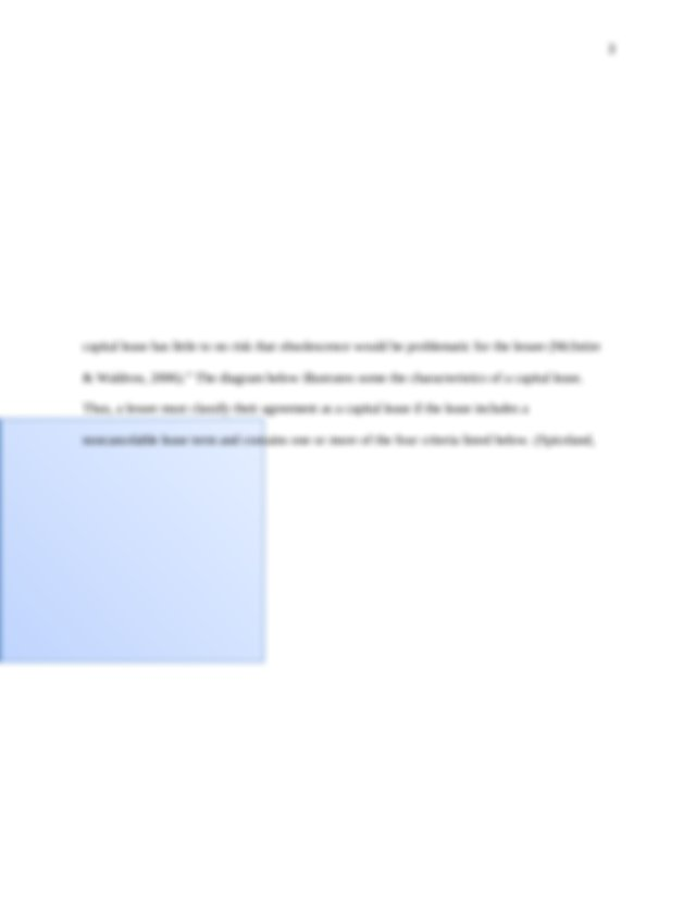 Lease Vs Purchase | Term Paper Warehouse