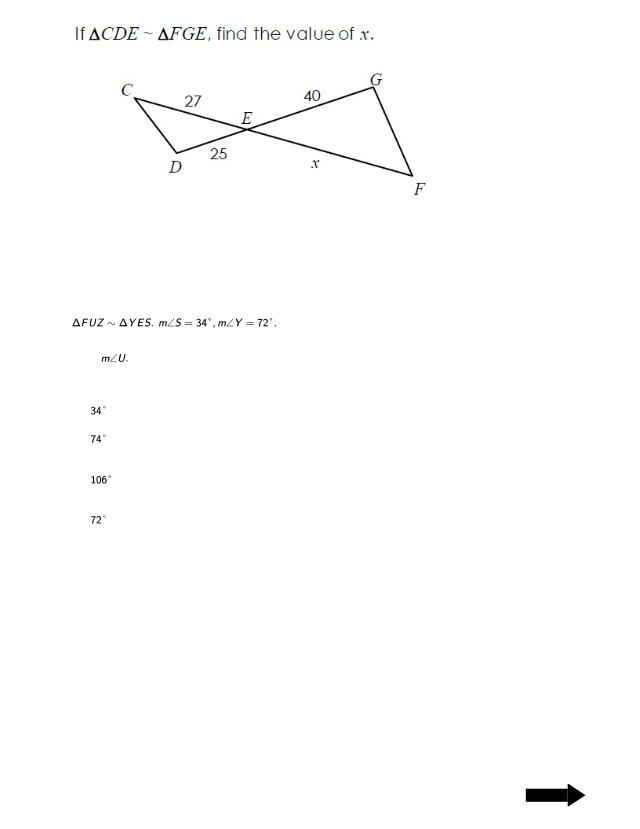 Test 9 Retest.pdf - RETEST GEOMETRY Similarity and ...