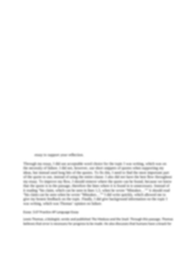 Intellectual vitality essay
