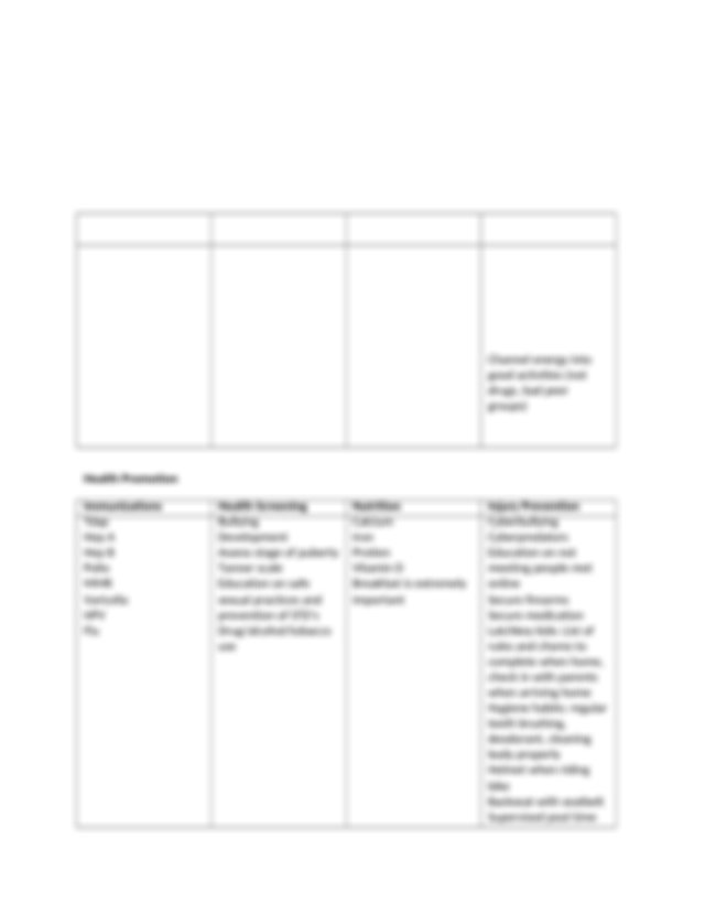 Growth and Development Template 10 yr old.docx - Growth ...
