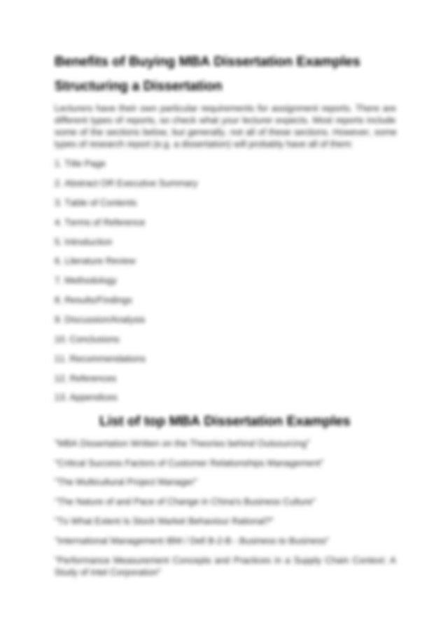 Mba dissertation writing dissertation research design