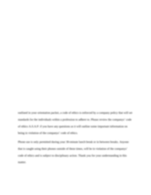 Week 4 Assignment 1 Code of Conduct Memo - Draft - Running ...