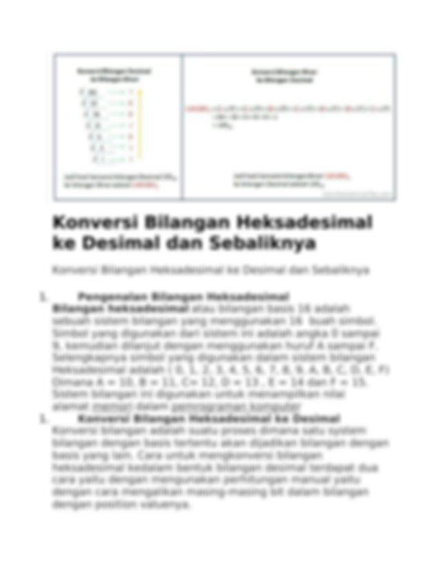 Cara Konversi Bilangan Desimal ke Bilangan Biner dan ...