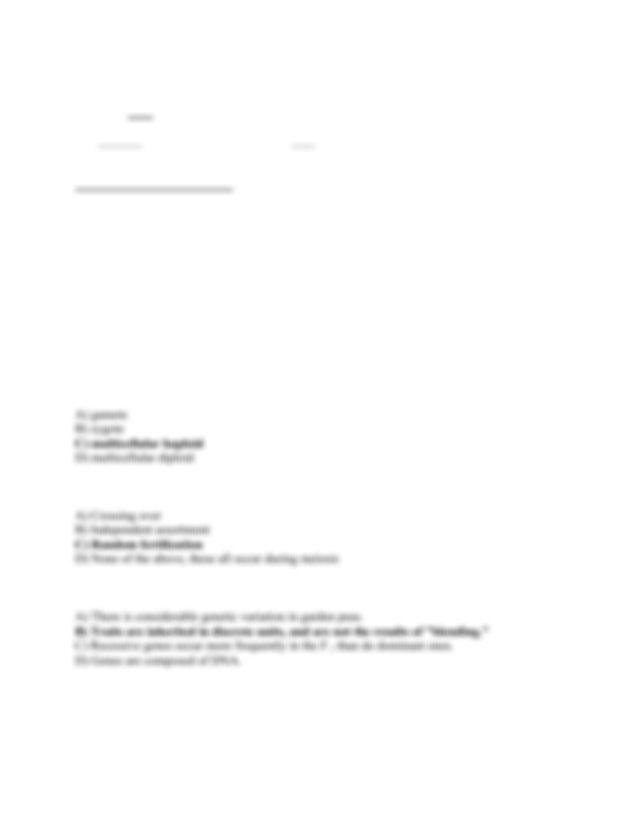 Exam 1 key - Bio 311D Exam I Introductory Biology II ...