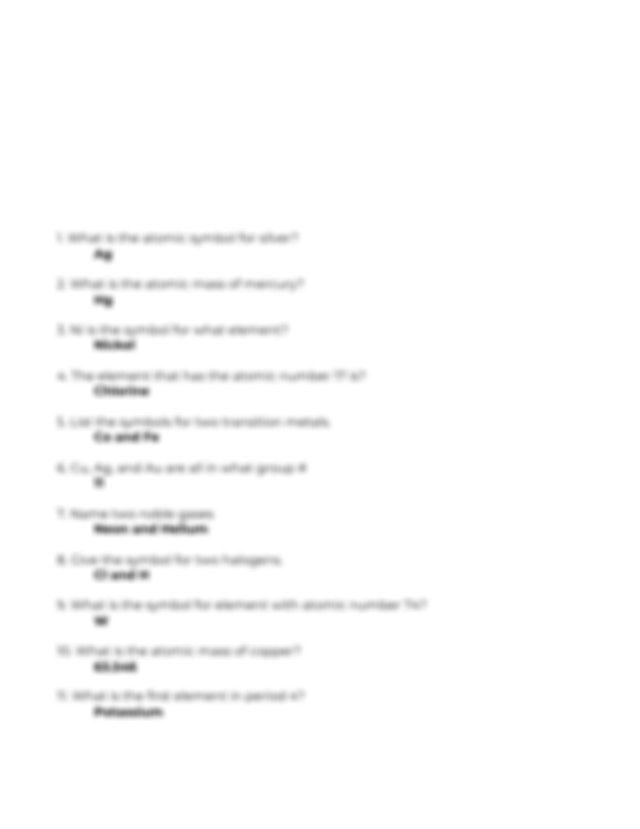 Periodic Table Assignment.docx - Periodic Table Packet#1 ...