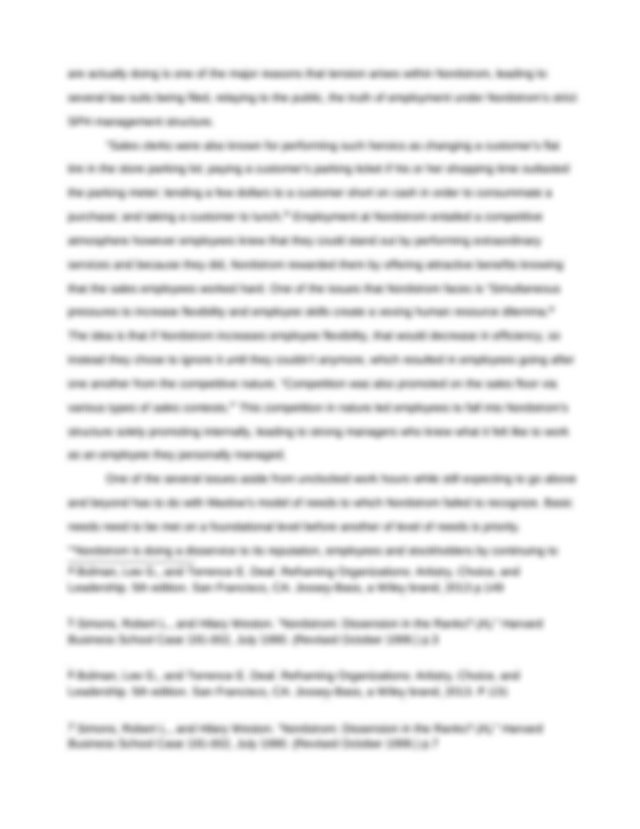 Nordstrom case study harvard
