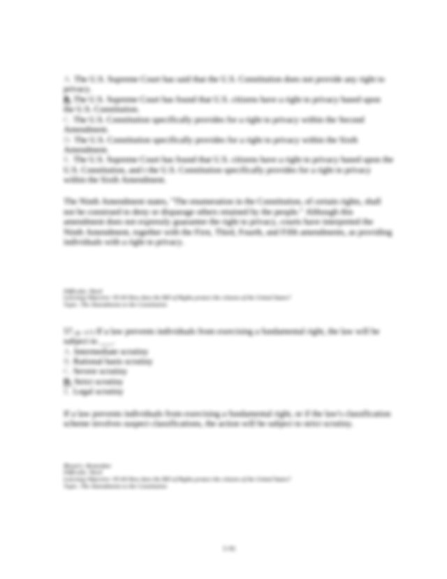 p 114 Which of the following are types of due process A ...