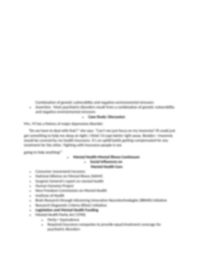 Chapter 1 Outline.docx - \u2022 Chapter 1 Mental Health ...