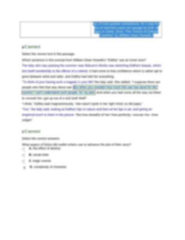 Complex Characters in Realism_Mastery Test.docx - 1 ...