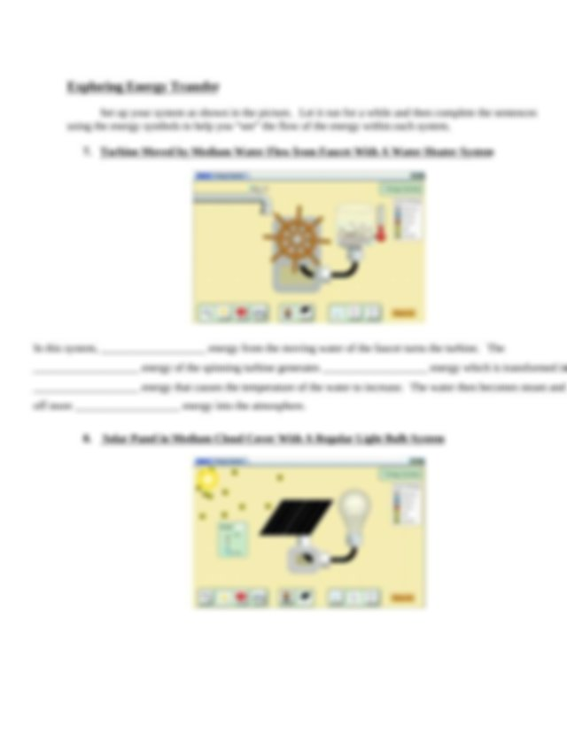 energy forms & changes simulation worksheet.docx - Name ...