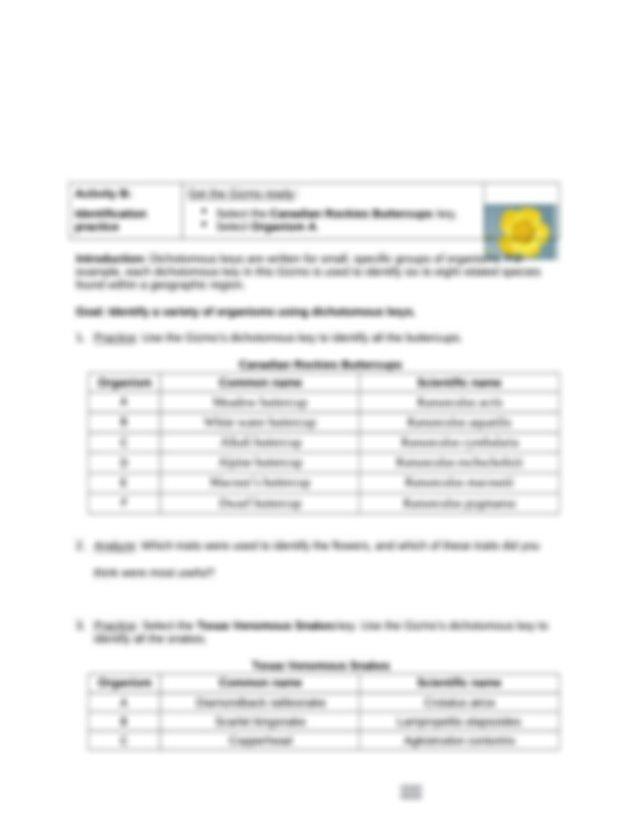 Gizmo Lab_ DichotomousKeys.docx - Name Date Student ...