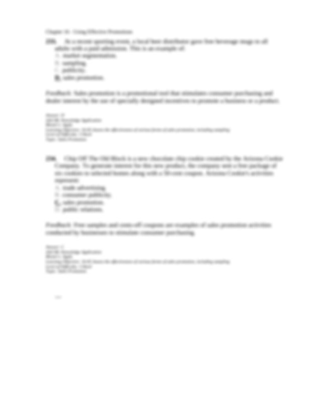 Which of the following statements is most accurate A Sales ...