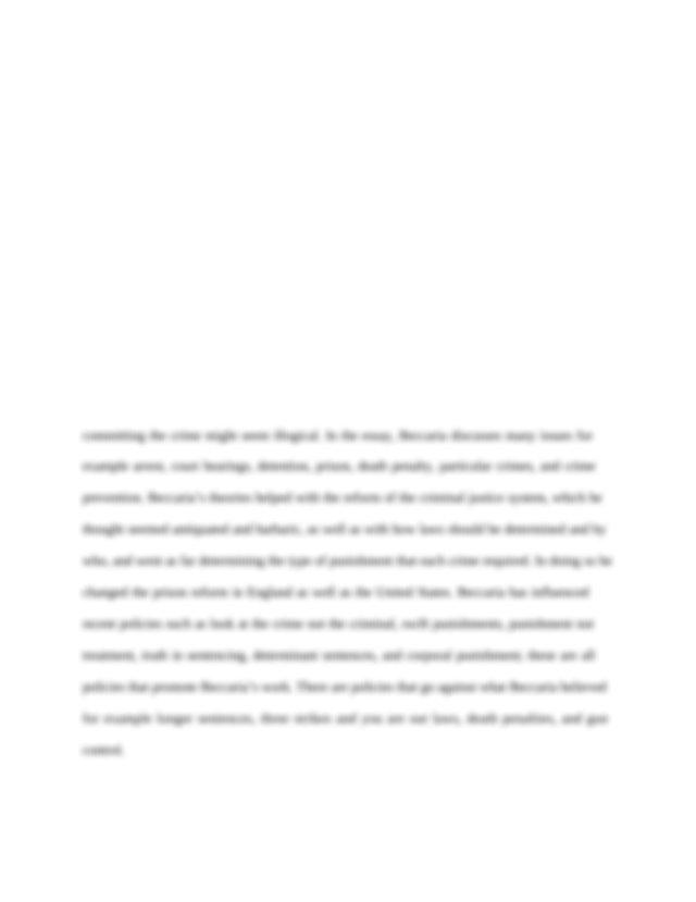 Doc cesare beccaria college paper