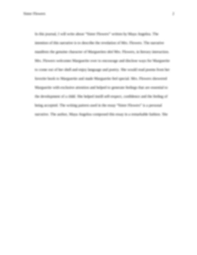 Descriptive Essay Flowers - Words | Bartleby