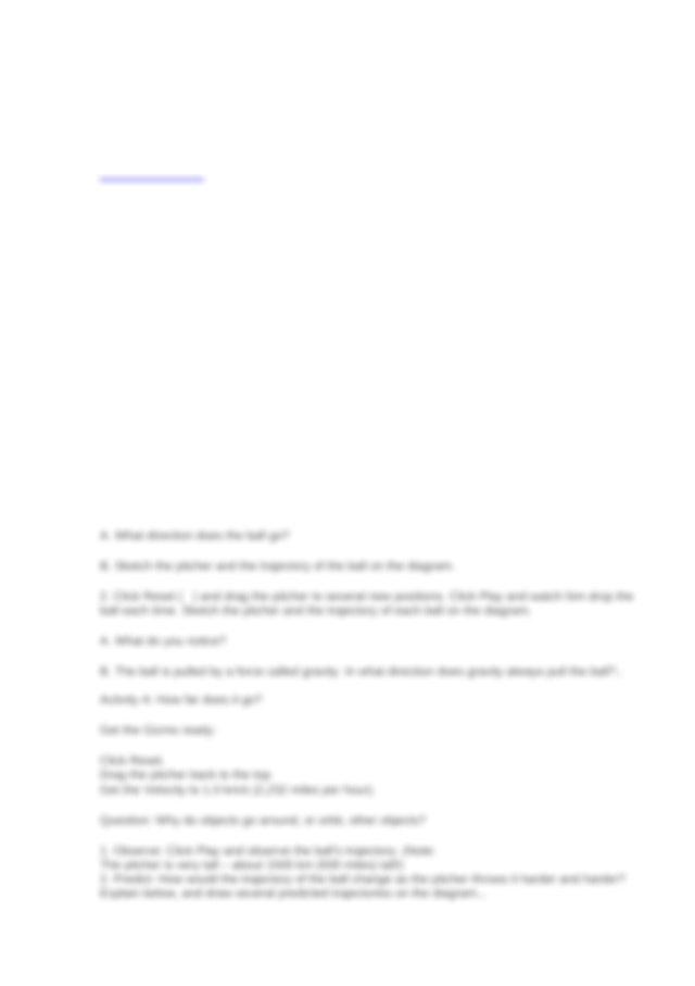 Gravity Pitch Gizmo Answer Key / Student Exploration ...
