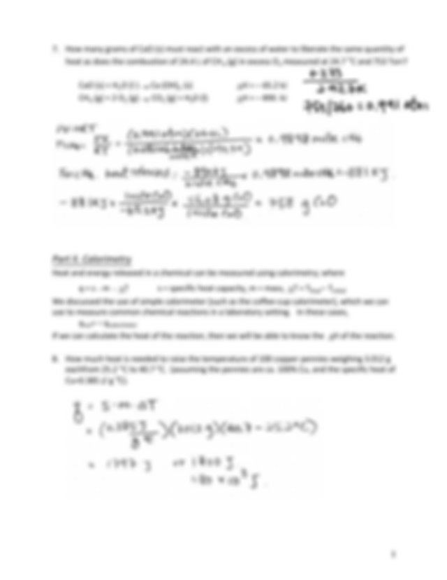 Worksheet_11_Thermochemistry_Key - Worksheet 11 ...