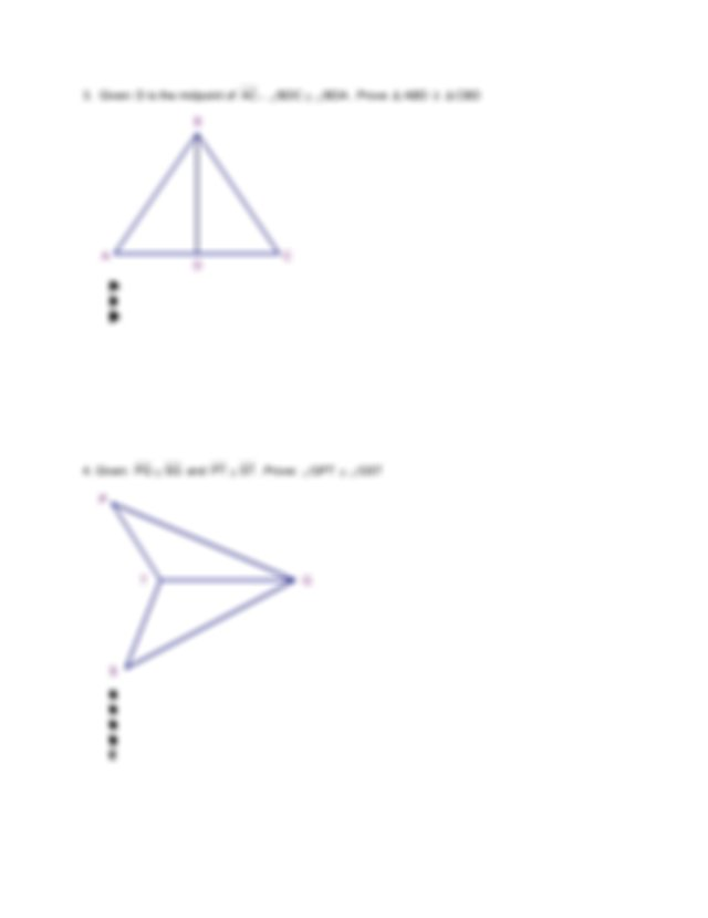 triangle proofs  geometry writing assignment proofs on