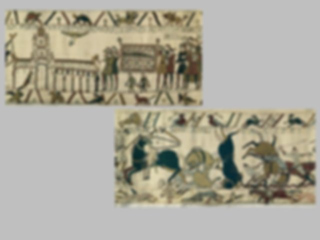 Study the form and stylistic elements of the Bayeux Master ...