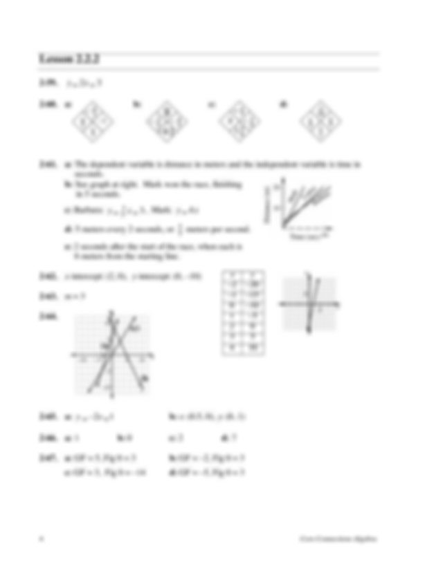 CPM Algebra 1 HW Solutions CH 22 - Selected Answers for ...