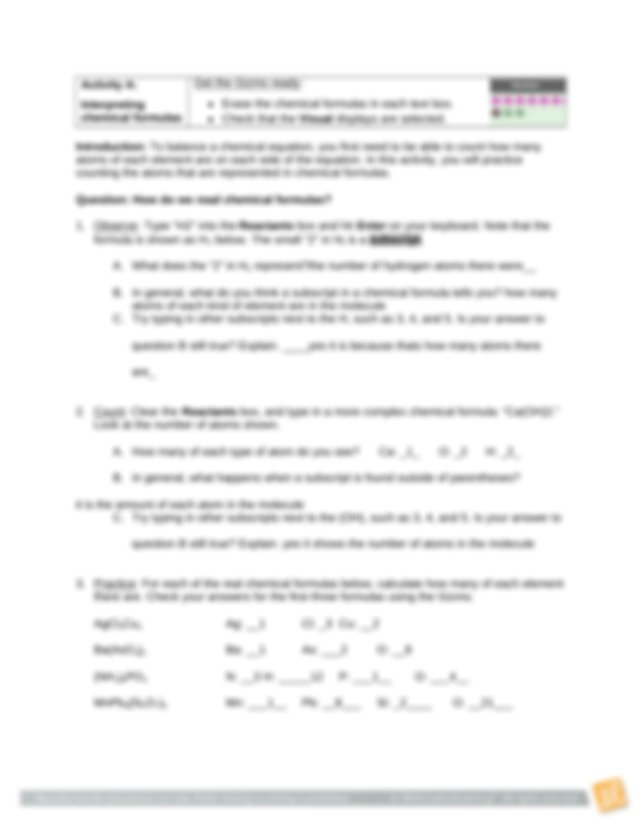 ChemEquationsSE (1) - Name Date Student Exploration ...