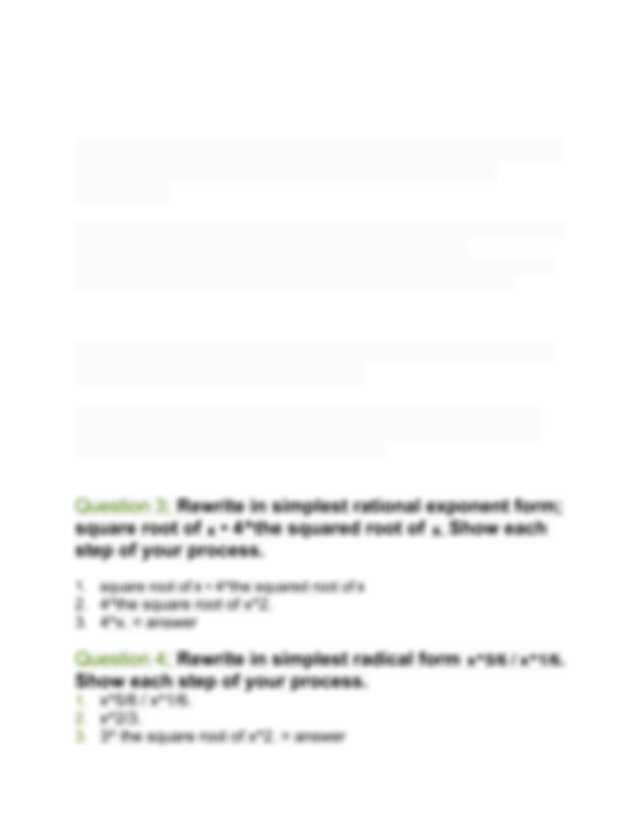 2.02 Algebra 2 - 2.02 Properties Of Rational Exponents