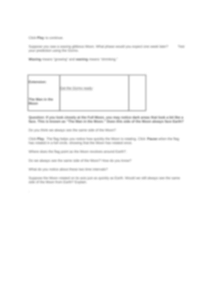 Student Exploration- Phases of the Moon (ANSWER KEY).docx ...