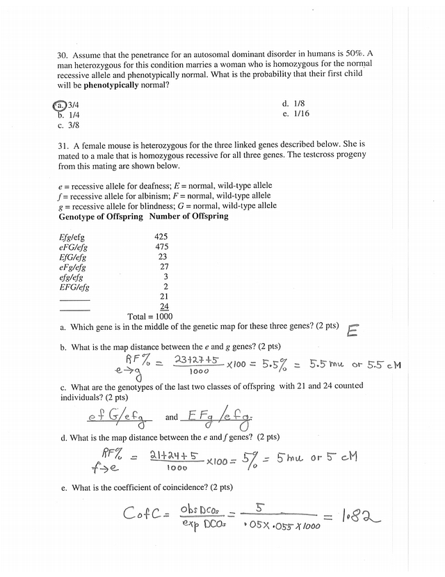 Key-Bio 115 Exam I S2013 - Biology 115 Name Examination I ...