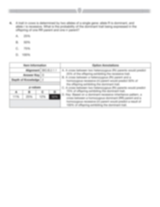 Pennsylvania Keystone Biology Item and Scoring Sampler ...