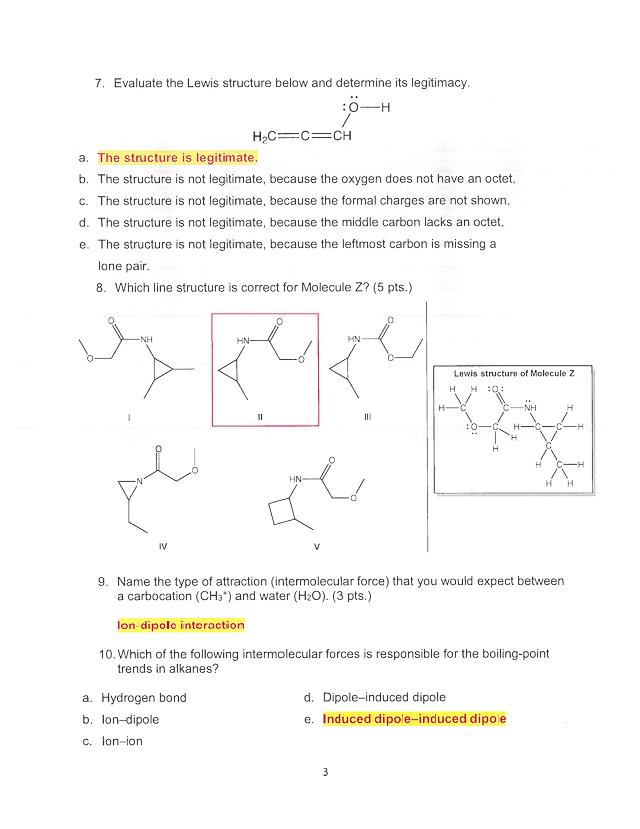 Organic Chemistry Midterm