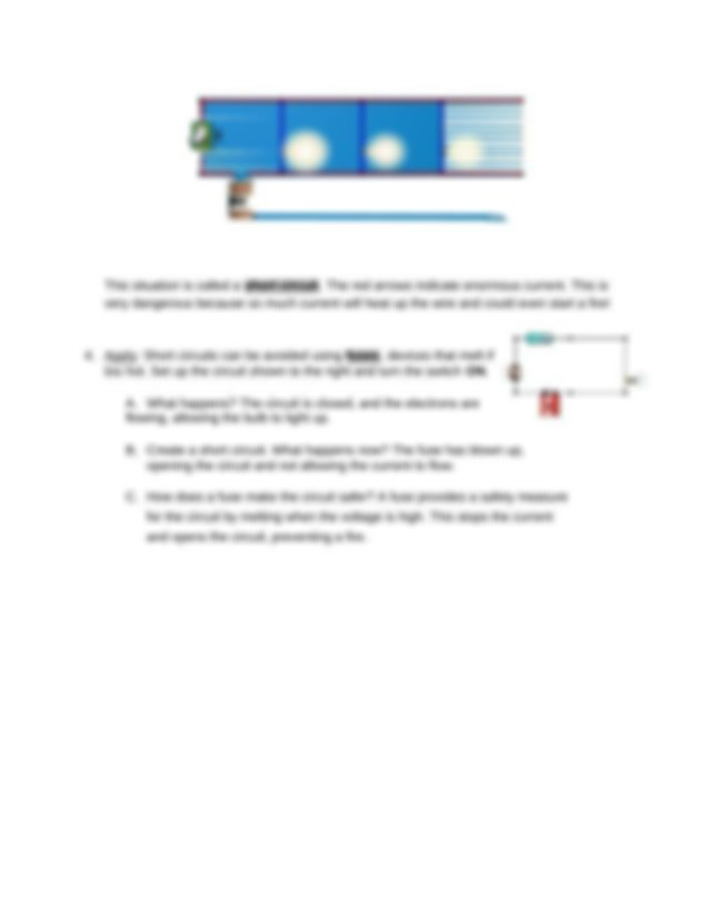A What do you notice about the brightness of the bulbs as ...
