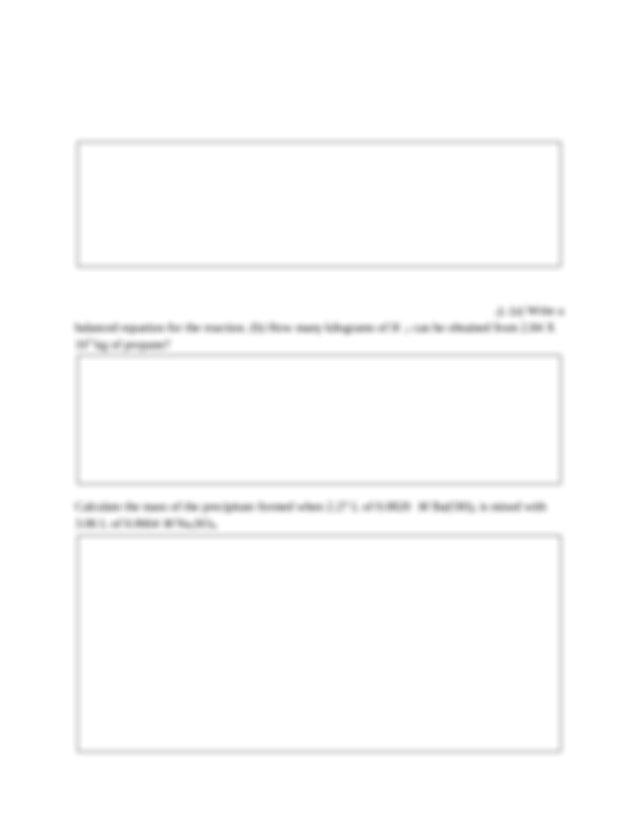 CHEM 1251 Final Exam Review - Final Exam Review Sheet A 1 ...