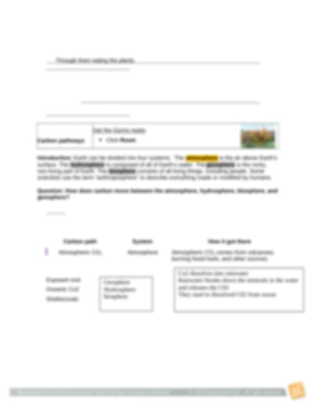 CarbonCycle.rtf - Name Date Student Exploration Carbon ...