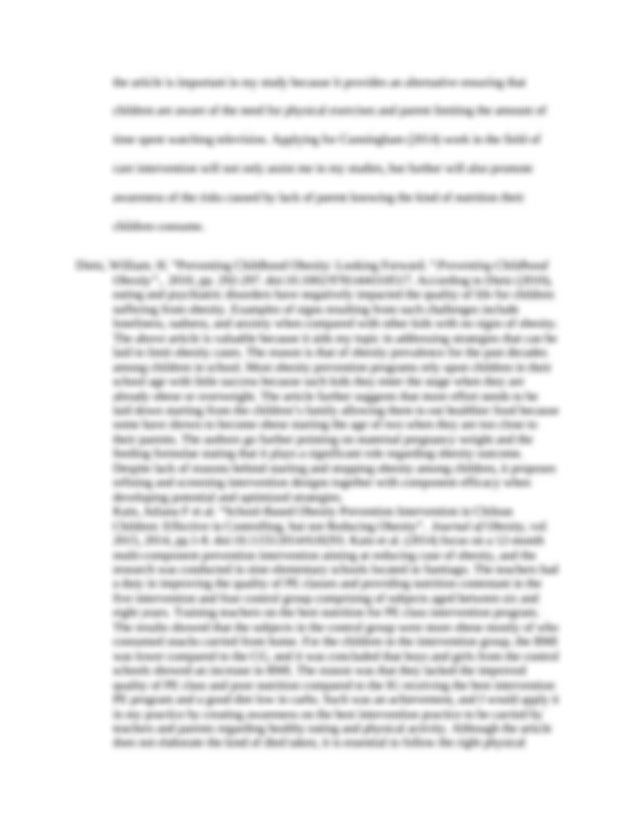 Literature review on childrens play